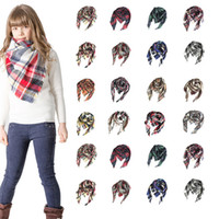 Wholesale gifts for teenage girls online - Kids Plaid Triangle Scarf Girls Children s Triangle Scarf Fichus Winter Pashmina Warm Shawls Poncho Cashmere Tassel Scarves for Gift