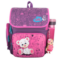 Wholesale backpack old school - Russian style 5-8 years old students 2016 Delune satchel Kids cartoon animal schoolbag Children School backpack bags for Girls
