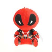 Wholesale dead dolls - 20CM Movie Deadpool Soft Dead pool Super hero Spiderman Plush Doll Toy Figure