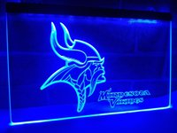 Wholesale Light Football Neon Signs - LD048- Minnesota Vikings Football LED Neon Light Sign home decor crafts