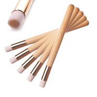 Wholesale makeup tools accessories online - Blackhead Nose Cleaning Brush Wooden Washing Makeup Beauty Brushes Skin Care Tools Cleaning Accessories Nasal Shadow Flat Top Brush