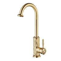 Wholesale antique brass bathroom faucet online - New Bronze Polish Kitchen Faucet Bathroom Basin Sink faucet Mixer Tap Single Handle Antique Brass Retail JP155