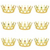 Wholesale colorful hair colors online - 11 Colors Children Princess Hair Accessories Colorful Crown Girls Christmas Halloween Cosplay Princess Jewelry Party Favor CCA10045
