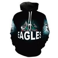 толстовки с капюшоном оптовых-Мужчины толстовка Philadelphia Eagles 3D Full Print человек с капюшоном мужская повседневная пуловер Толстовки с длинными рукавами кофты топы (RL2713)