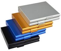 Aluminium Alloy 20 Cigarettes Box Metal Cigarette Storage Tobacco Case Container Cigarette Holder Smoking Gift 4 colors