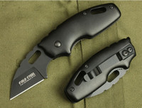 Wholesale cold steel 57hrc for sale - Group buy COLD STEEL X37 MTS Folding Pocket Knife C Blade Aluminum Handle Camping Survival Knife freeshipping
