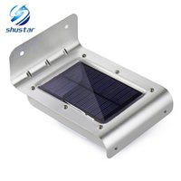 Wholesale patio lighting solar - 16 LED Outdoor Solar Led Light Wall Mount Security Lamp Super Bright Waterproof Light Motion Sensor Garden Patio Path Fence Lamp