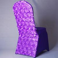 universal flowers 도매-유럽 3D 장미의 자 꽃 유니버설 스트레치 스 판 덱 스의 자 결혼식에 대 한 커버 파티 연회 장식 액세서리 우아한 웨딩