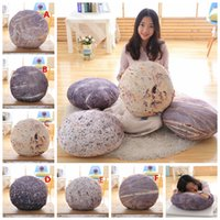 Wholesale pounding toys online - 35 CM Simulation Cobblestone Pillow Case Cover Sleeve Down Cotton Sofa Stone Cushion Covers Plush Toys Home Decor Bedding Supplies AAA913