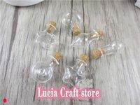 şişe şişeleri mantar toptan satış-Lucia El Sanatları 6 adet Çok Şekiller seçenek Küçük Sürüklenme Şişeler Mantar Tıpa Mini Konteynerler Ile Boş Cam Flakon 078006003