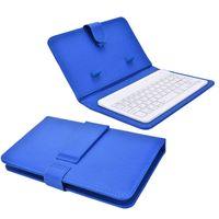 teléfono con teclado iphone al por mayor-Caja de teclado inalámbrico portátil de cuero de la PU para iPhone Teléfono móvil de protección con teclado Bluetooth para iPhone