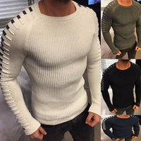 Wholesale Sexy Long Sleeve Outwear - 2017 Winter Fashion Man's Long Sleeve Sweater Sexy Slim Knit Pullovers Solid Color Lace Top Casual Outwear