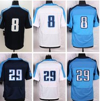 Wholesale Free Legend - 8 Marcus Mariota Jersey 29 DeMarco Murray Navy Blue White Light Blue Elite Game Legend Stitched Jerseys College Free Shippiing