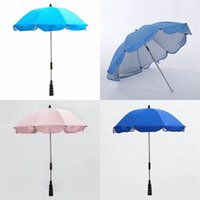 Wholesale umbrellas strollers - Universal Stroller Umbrella Baby Carriage Infant Child Sunshade Umbrellas Ultraviolet Proof Easy To Carry Bumbershoot New Arrival 17xx VB