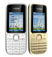 kamera handy gsm großhandel-Refurbished Original Nokia C2-01 entsperrt Handy 2.0 Zoll Bildschirm 3.2MP Kamera Bar 2G GSM 3G WCDMA