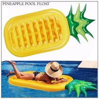 Wholesale water floating beds online - 190 cm Inflatable Pineapple Floats Tubes Pool Swimming Toy Ride On Pool Pineapple Floating Bed Swim Ring for Water Sports CCA9345