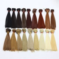 Wholesale girls straight hair for sale - Straight Doll Hair Multi Color One Piece cm High Temperature Wire Wigs For Diy Material Kid Fun Handmade Toys Gifts rk Z