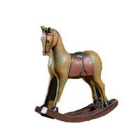 antique american folk art UK - 2018 New Design Rocking Resin Horse Figurines American Style Colored Drawing Furnishing Decoration Miniature