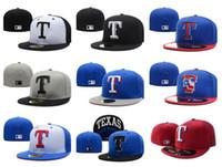 Wholesale rangers sports - Cheap Men's Women's Gorras Popular Hip Hop Men's Sport Team Caps On Field Full Closed Design Rangers Blue Color Mix Order ok