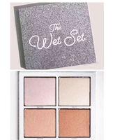 yaş toz toptan satış-Yeni Sıcak The Wet Doğum tatil Sürümü Makyaj bronzers İşaretleyiciler Pudra Fondöten Paleti 4 renk Koleksiyon DHL Kargo + Hediye set
