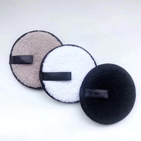 Wholesale makeup remover cotton pad - 3PCS Set Magic Cleaning Cookie Makeup Remover Reusable Facial Cleansing Pad Face Clean Tool acrylic fiber Cotton Pad
