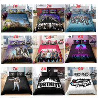 Wholesale 3d bedding pc set online - New Fabrics Printing D Duvet Cover Game Fortnite Polyester Bedding Sets Soft Printed Bed Linens Bedroom AU Single Queen Size Bedding Cloth
