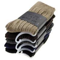 calcetines de lana de alta calidad de los hombres al por mayor-2017 Nueva Llegada Gruesa Calcetines de Lana Merino de Alta Calidad 3 par / lote Calcetines de Hombre Clásico Negocio Marca Hombres Invierno