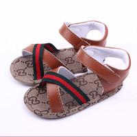 chaussures de sandale achat en gros de-Nouveau-né Bébé Garçon sandales Mode Enfants designer chaussures enfants en bas âge infantile chaussures Pantoufles Non-slip Sandal