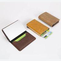 Wholesale Leather Cash Clip - Genuine Leather Card Holder Cash Wallet Clip RFID Blocking Purse