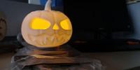 воспоминания кукол оптовых-Светодиодный тыквенный фонарь на Хэллоуин, мини-кукольный домик, ночной светильник на Хэллоуин, лампа памяти детства, магнитная левитация