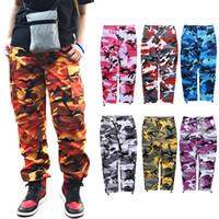 pantalones militares moda mujer al por mayor-Nueva Moda Camo Cargo Pantalones Mujer Hombre Joggers Pantalones de chándal Justin Bieber Hiphop Streetwear Pantalones de camuflaje militar Pantalones al aire libre BFSH1001