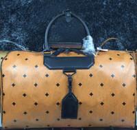 Wholesale european suitcase resale online - 2018 hot Korean top fashion travel bag printed large capacity leather suitcase travel bag