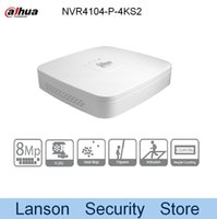 Wholesale Dahua Network Video Recorder - Dahua 4K NVR4104-P-4KS2 Original Egnlish Version 4 Channel Smart 1U 4PoE 4K&H.265 Lite Network Video Recorder