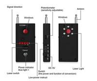 радиосигналы оптовых-CC308 + беспроволочный детектор объектива камеры обнаружения радиоволны детектируют камеру Полнодиапазонный WiFi RF Singnal Bug Laser Поиск устройства GSM