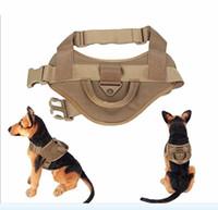 freie taktische weste großhandel-Freies Verschiffen Tactical Dog Training Weste Kragen Nylon Einstellbare Patrol Hundegeschirr Service Hund Weste auf Seiten für ID Patch Harness