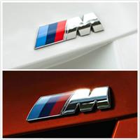 rozetler arabaları toptan satış-Araba Styling 3D Metal Araba Çıkartmaları M BMW BMW Için Performans Performans Rozeti Çamurluk Amblem Sticker Aksesuarları
