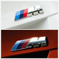 emblèmes personnalisés achat en gros de-Car Styling 3D Metal Autocollants De Voiture M Puissance Performance Badge Fender Emblème Autocollant Pour BMW Extérieur Accessoires