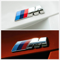 Wholesale 3d sticker for accessories car resale online - Car Styling D Metal Car Stickers M Power Performance Badge Fender Emblem Sticker For BMW Exterior Accessories