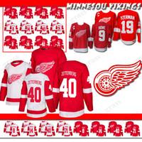 Wholesale steve red online - Detroit Red Wings Jersey Justin Abdelkader Dylan Larkin Steve Yzerman Gordie Howe Hockey Jerseys new