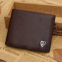 Wholesale tri square for sale - Group buy Cheap Soft Short Cowhide Leather PU Wallets Tri fold Men Business Black Coffee Color R007