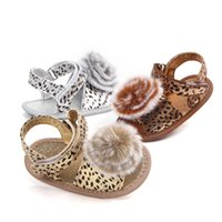 Wholesale sandal prewalker resale online - Baby Shoes Summer Newborn Baby Girls Sandals Soft Sole Crib Shoes Leopard Sneaker Prewalker
