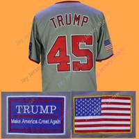 Wholesale Baseball Jerseys Washington - 45 President Donald Trump Jersey Baseball New York Washington