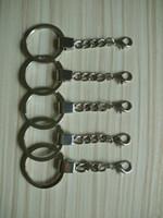 посеребренные кольца оптовых-Посеребренные 30 мм брелоки Сплит кольцо с короткой цепью кольца женщины мужчины DIY аксессуары 10 шт. KC003