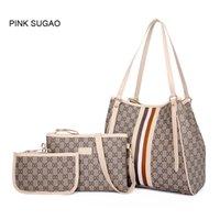 Wholesale brown lashes resale online - Pink sugao colors lattice set fashion handbag Lashes designer handbags tote bag cross body bag women messenger shoulder bag clutch