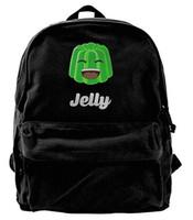 Wholesale boy teen backpacks resale online - Kwebbelkop Jelly YT Logo Canvas Shoulder Backpack Funniest School Backpack For Men Women Teens College Travel Daypack Black