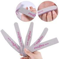 herramientas de archivos de pedicura profesional al por mayor-Limas de uñas profesionales 5 limas de uñas de diferentes formas 100/180 Lijado Bloque de tampón Pedicura Manicura Pulir Pulir Herramientas de belleza
