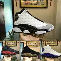 Wholesale rubber paws - Best 13 mens Basketball Shoes Paw design Sea blue gray white Wheat Olive Ivory Black Cat Cheap XIII 13s Trainer Sneakers