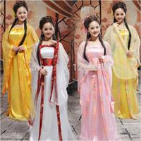 chinesische trachten frauen großhandel-Traditionelle Frauen Tang alten chinesischen Kostüm schönen Tanz Hanfu Kostüm Prinzessin Dynastie Opera chinesischen Hanfu Kleid