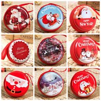 Wholesale christmas gifts case resale online - Christmas Coin Purse Headset Bag Key Case Wallet Portable Storage Hold Case Cartoon Christmas gift Tree Pendant Party Favor GGA778
