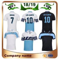 havza evleri toptan satış-18/19 Lazio Futbol Forması 2019 Lazio ev # 6 LUCAS # 7 KISHNA Futbol Gömlek 8 BASTA 10 F. FERSERE IMMOBILE LULIC Özel Futbol Gömlek